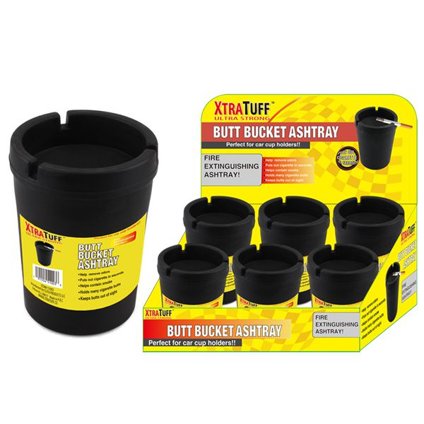 XtraTuff Butt Bucket Ashtray Jumbo Black