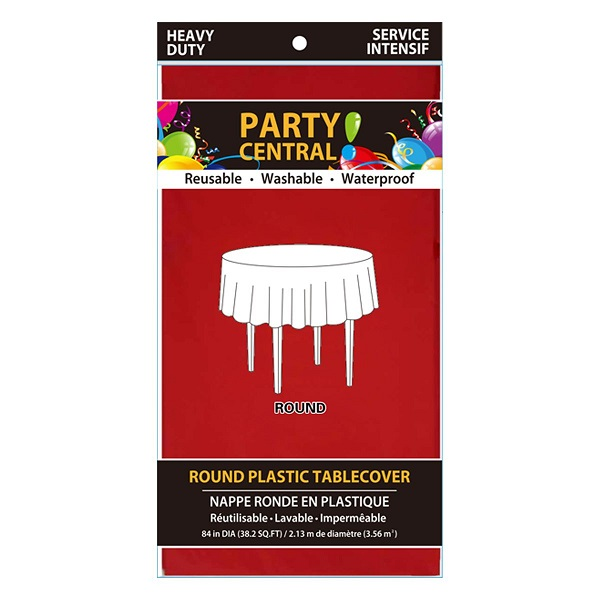 Table Cloth Round Red