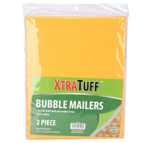 XtraTuff Bubble Envelope 9.5x12in 2PK