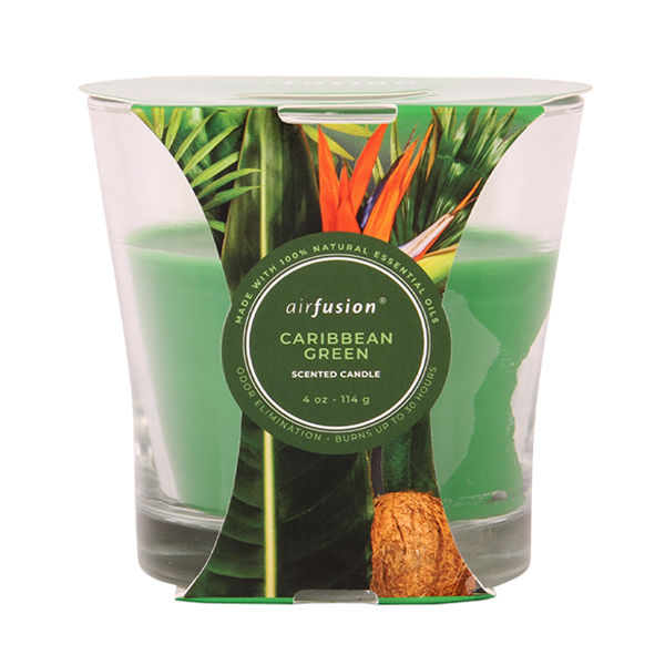Air Fusion Candle 4oz Caribbean Green