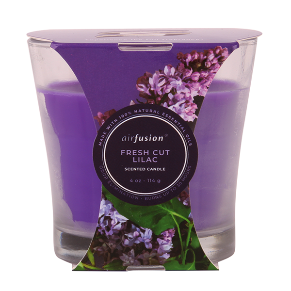 Air Fusion Candle 4oz Fresh Cut Lilac