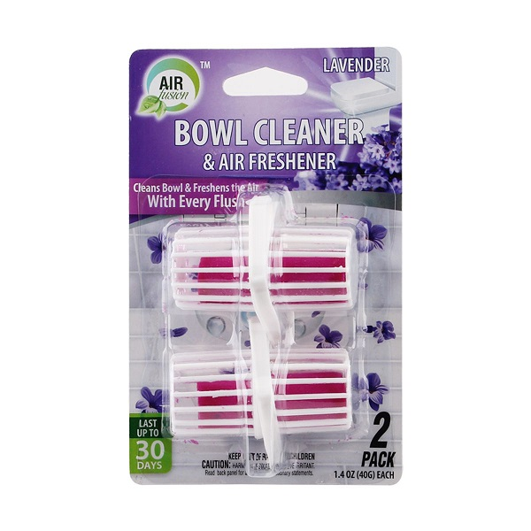 Air Fusion Bowl Cleaner & Freshener Hanger 2PK Lavender