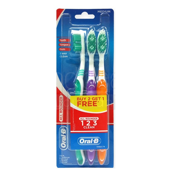 Oral-B Toothbrush 123 3PK Medium