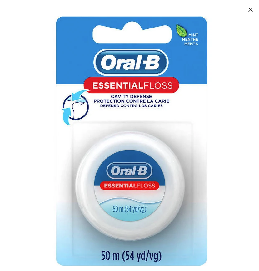 Oral-B Essential Floss 55yds Mint