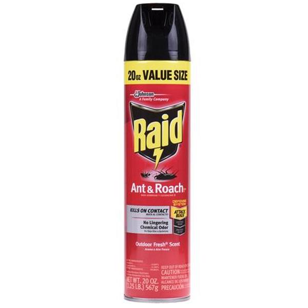 Raid Ant & Roach Spray 20oz Outdoor Fresh