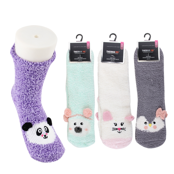 Thermaxxx Fuzzy Socks HD 3 Assortment