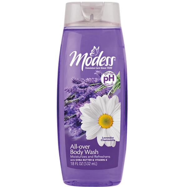 Modess Body Wash 18oz Lavender Chamomile