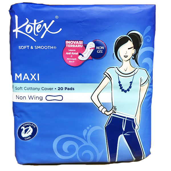 Kotex Soft & Smooth Maxi Plus 20CT Non Wing