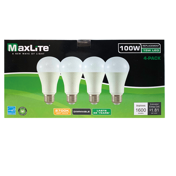 Maxlite LED Bulb 100W 4PK Soft White