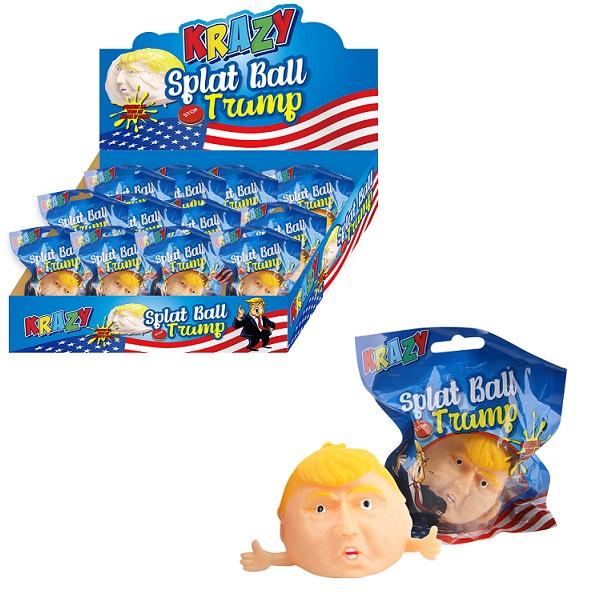 Trump Head Splat Ball Display