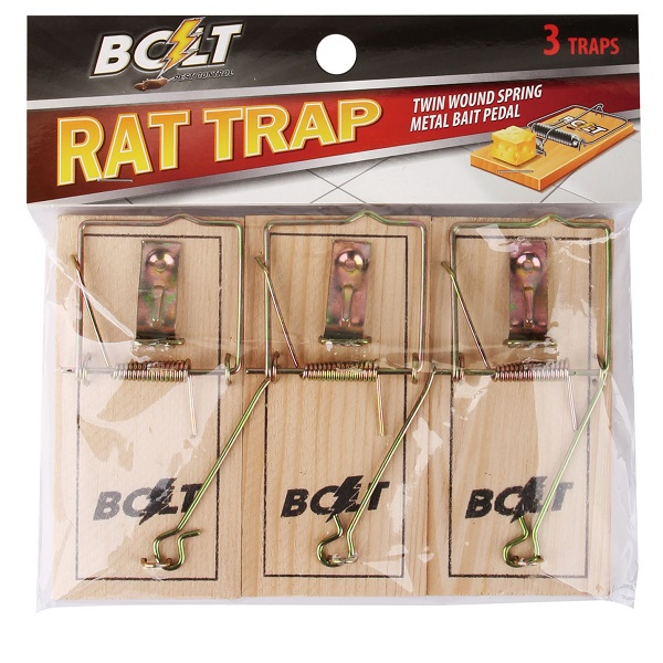 Bolt Pest Wood Rat Trap 3PK Reg
