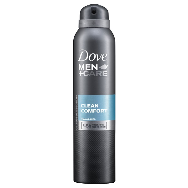 Dove Body Spray 150ML Men's + Care Clean Comfort