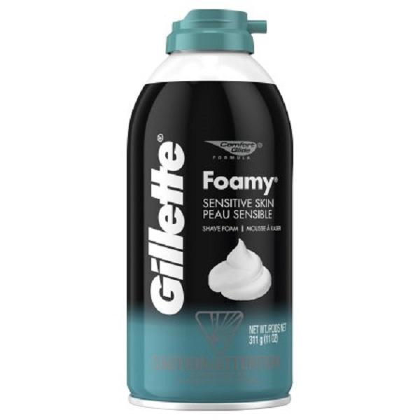 Gillette Foamy Shaving Cream 11oz Sensitive