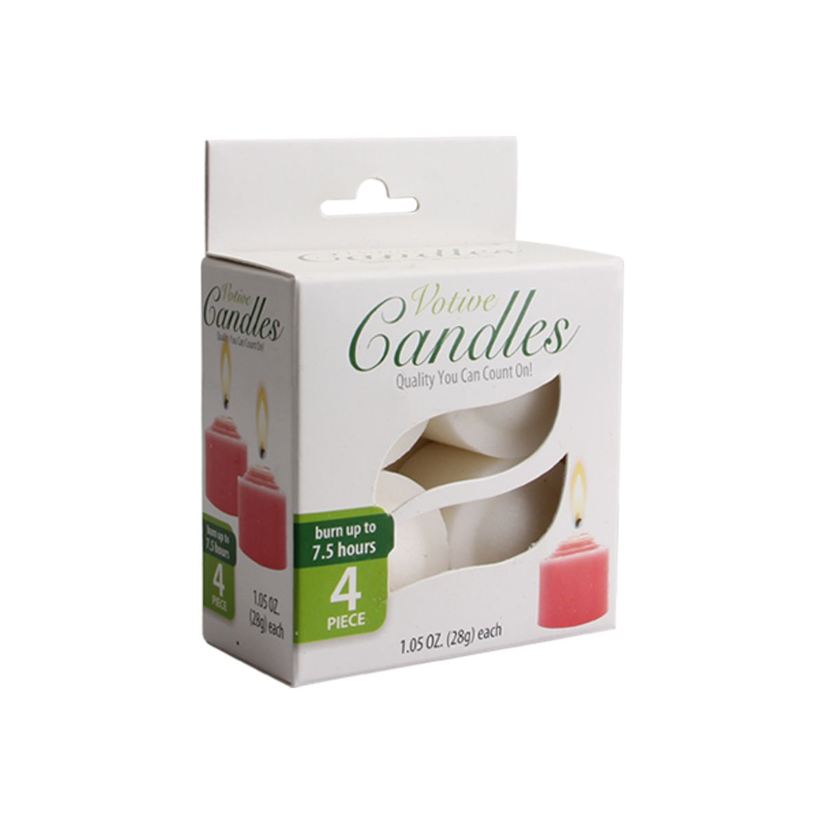 Candle Votive 4PK Unscented