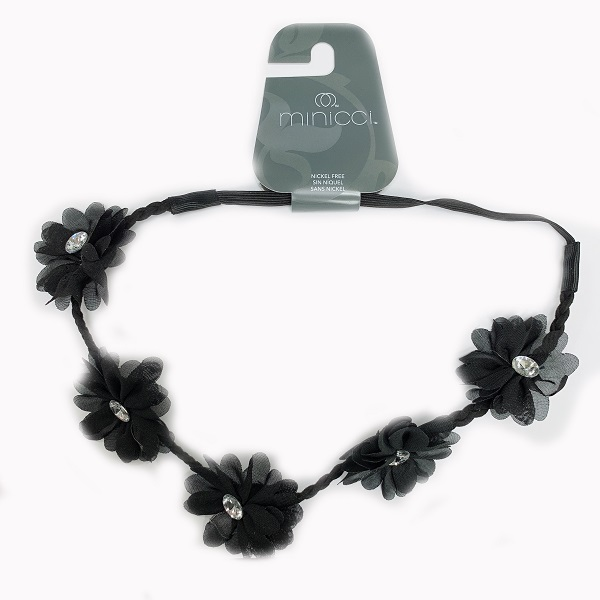 Headband Flower Black