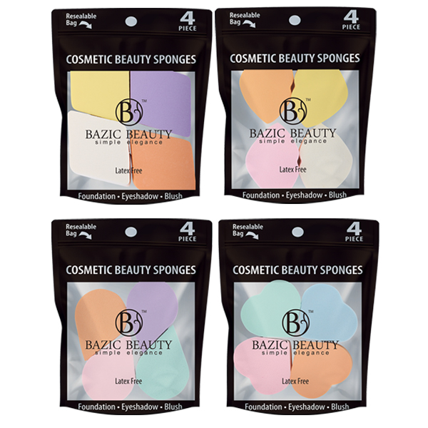 Bazic Beauty Cosmetic Beauty Sponge 4PK