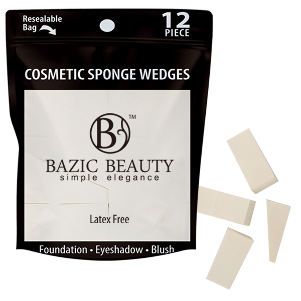 Bazic Beauty Cosmetic Sponge Wedges 12PK