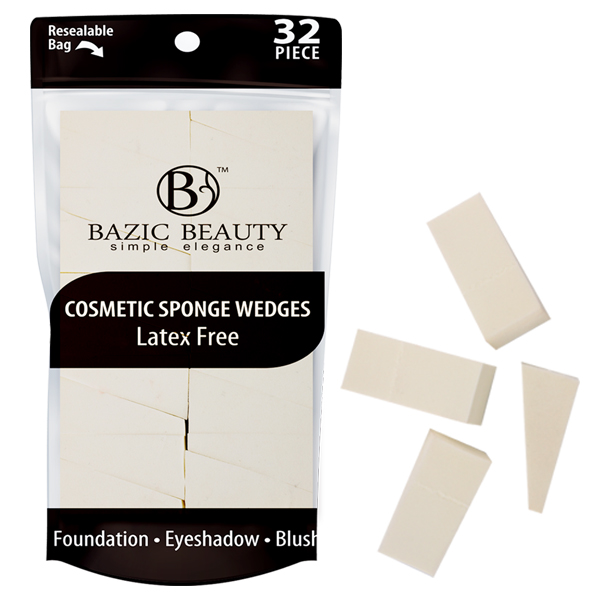 Bazic Beauty Cosmetic Sponge Wedges 32PK