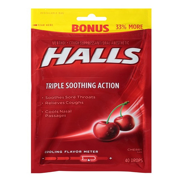Halls Bag 40CT Cherry