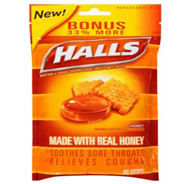 Halls Bag 40CT Honey
