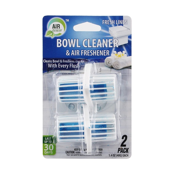 Air Fusion Bowl Cleaner & Freshener Hanger 2PK Linen