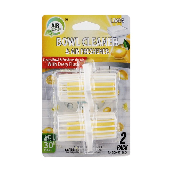 Air Fusion Bowl Cleaner & Freshener Hanger 2PK Lemon