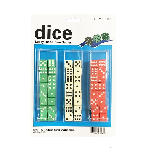 Dice Color 48CT Solid