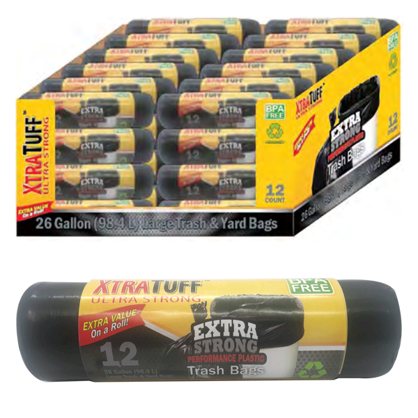 Xtratuff Trash Bag Roll 26GAL 12CT