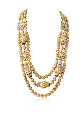 TRADITIONAL GOLD PLATED JADAU NECKLACE