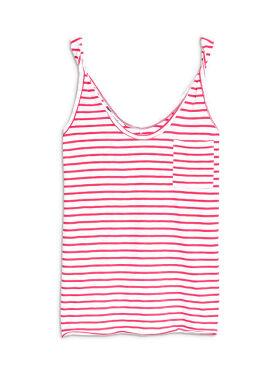 Women Pink Striped Top