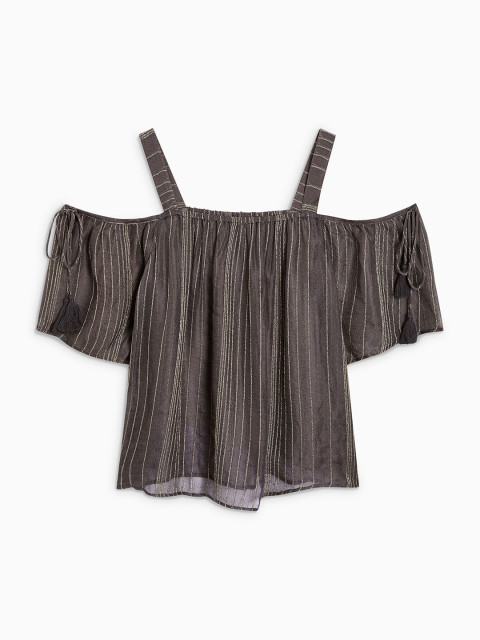 Women Charcoal Solid Top