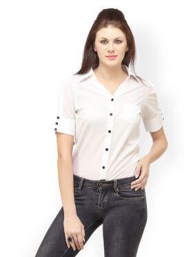 Cation Women White Shirt