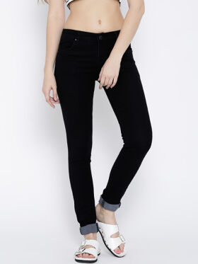 Devis Black Slim Fit Stretchable Jeans