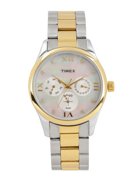 Timex Women White Iridescent Multifunction Watch TW000W204