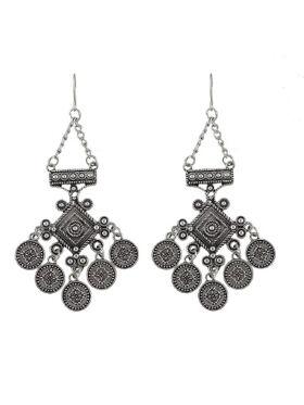 Ethnic Style Big Hanging Earrings