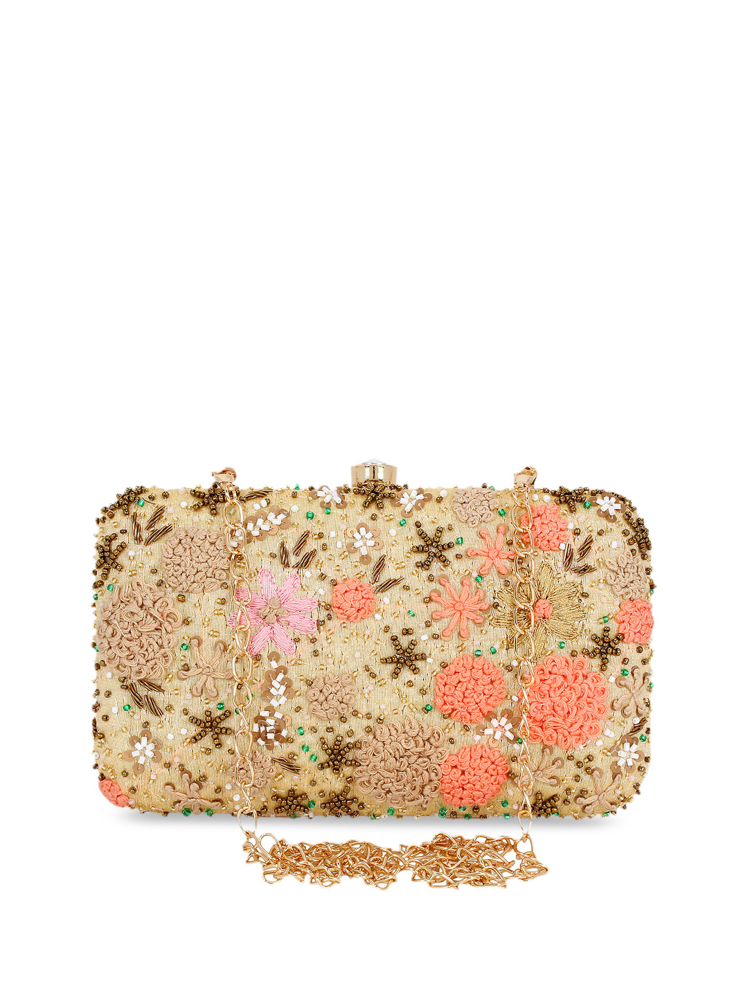 EMBROIDERED METAL FRAME CLUTCH