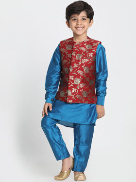 BROCADE KURTA- BUNDY SET