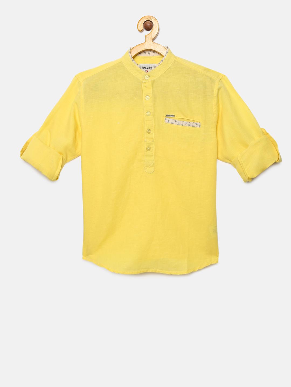 Gini and Jony Boys Yellow Shirt