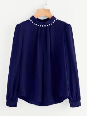 Women's Navy Blue Top