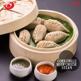 Corn Chilli with Cheese Momos