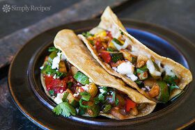 Mexican Beans and Grilled Veggies Tacos