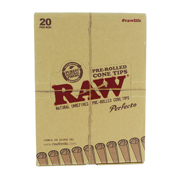 RAW CIG. PAPER CONE TIPS *PRE-ROLLED* 20CT
