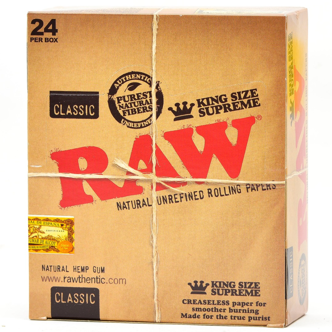 RAW CIG. PAPER CLASSIC *KING SUPREME* 24CT