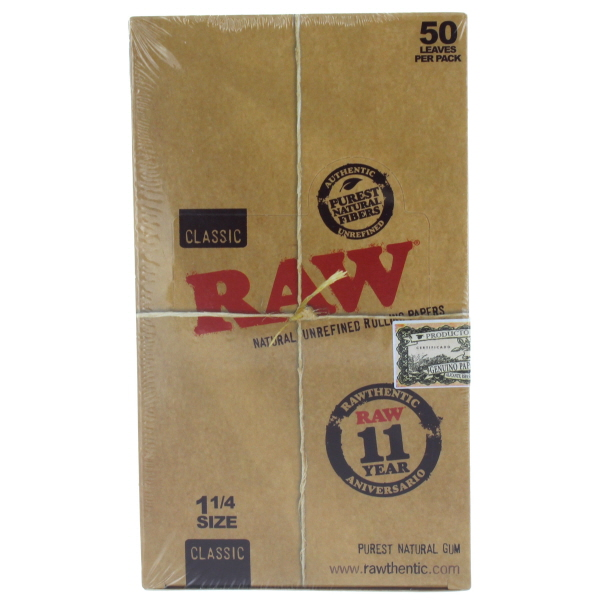 RAW CIG. PAPER CLASSIC *1-1/4* 24CT