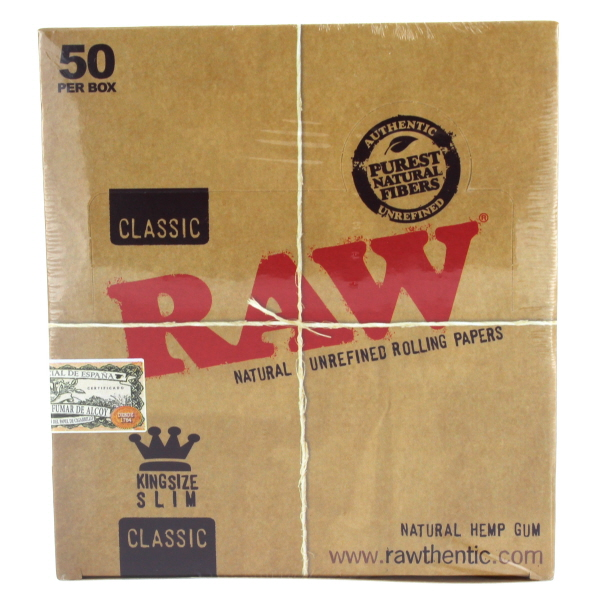 RAW CIG. PAPER CLASSIC *KING SLIM* 50CT