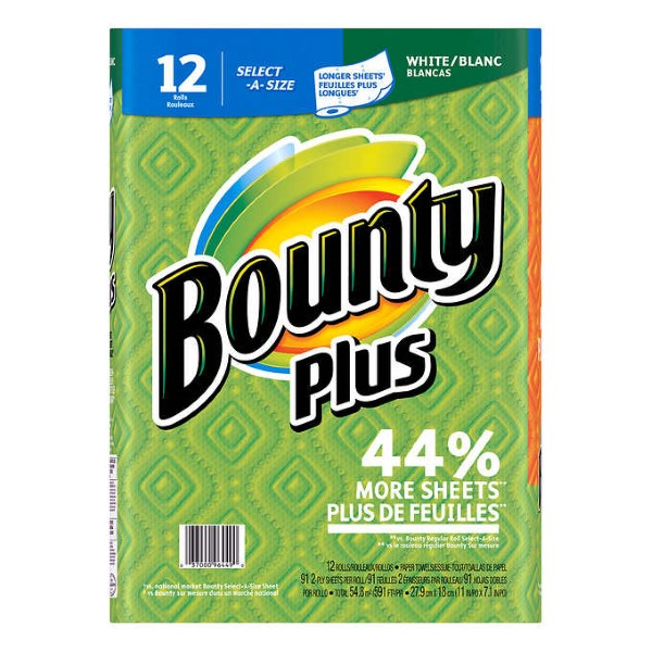 BOUNTY ESSENTIALS TOWEL 2-PLY 83 SELECT-A-SIZE SHTS. 6'S