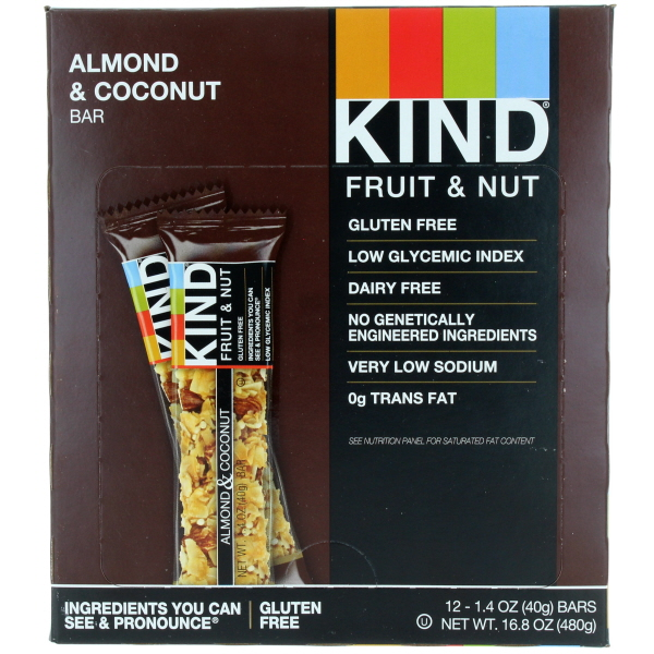 KIND BAR 1.4OZ 12CT *ALMOND & COCONUT*