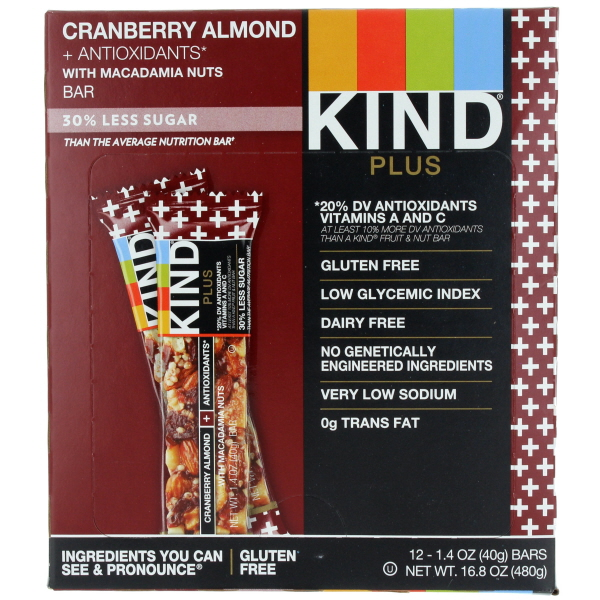 KIND BAR 1.4OZ 12CT *CRANBERRY ALMOND*