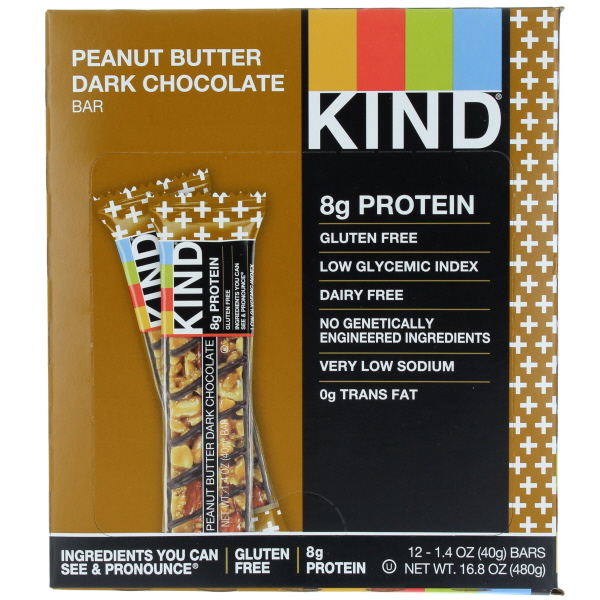 KIND BAR 1.4OZ 12CT *PEANUT BUTTER DK. CHOC.*