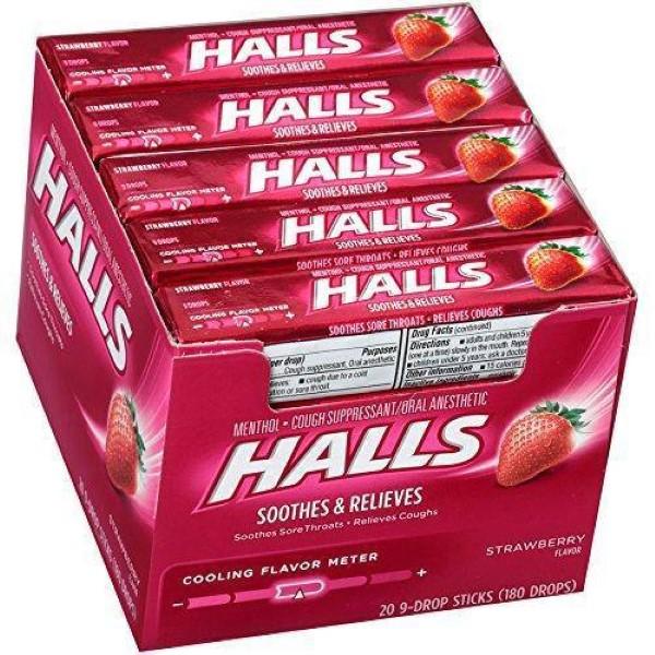 HALLS STICK 9'S 20CT *STRAWBERRY*
